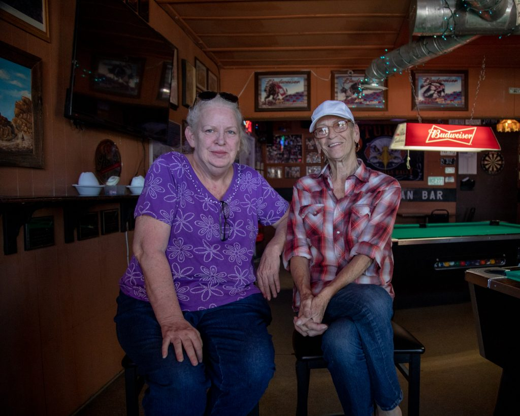 Laurette Rogers (left) and Wedda Warrick have been drinking partners for close to three years. (Lenny Martinez/News21)