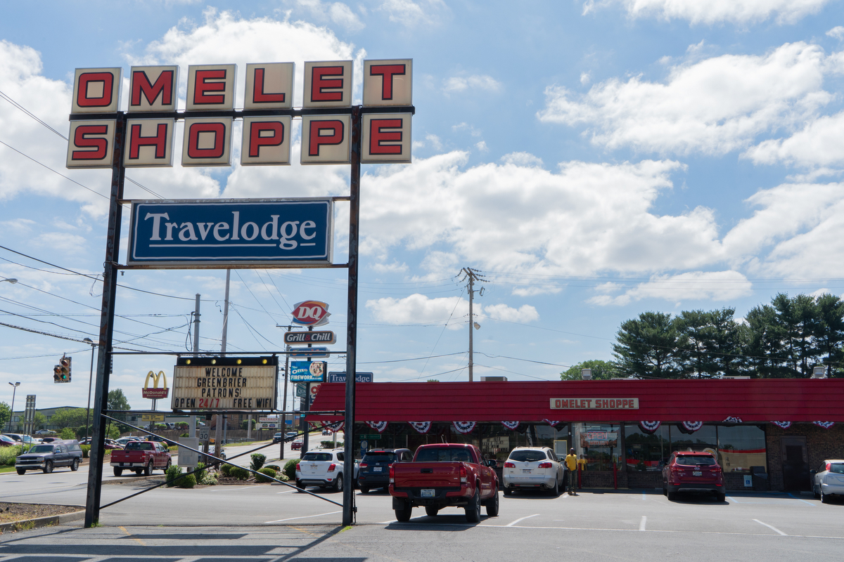 The Omelet Shoppe is a 24-hour diner off Interstate 64 in Beckley, West Virginia, that's popular with locals.