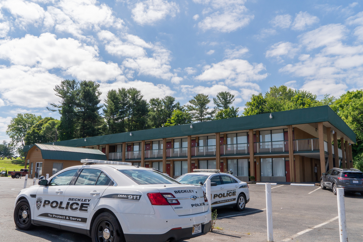 A woman was murdered at the Travelodge Hotel in Beckley, West Virginia, on July 9. Felicia Robertson, a waitress at the Omelete Shoppe next door, attributes the murder to one cause — drugs. The community of 17,000 is in the grips of opioid abuse.
