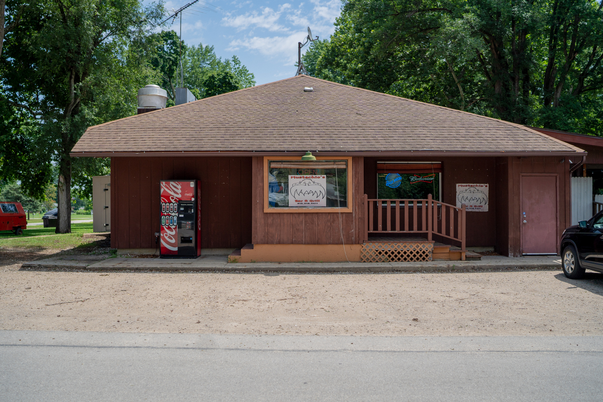 Mustachio's Bar and Grill is one of two food establishments in Carbon Hill, Illinois, a village that hasn't grown or shrunk since its founding in the late 1800s.
