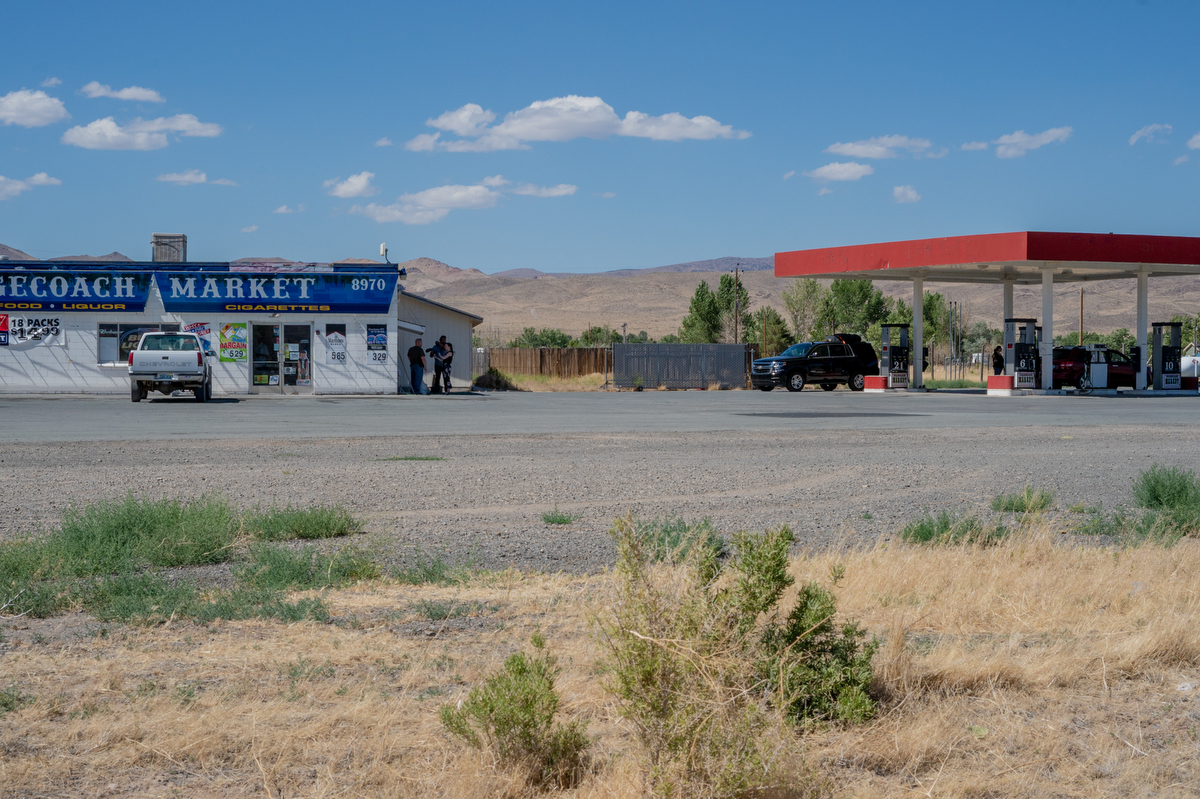 The gas station in Stagecoach, Nevada, where we found Brian Baldwin.