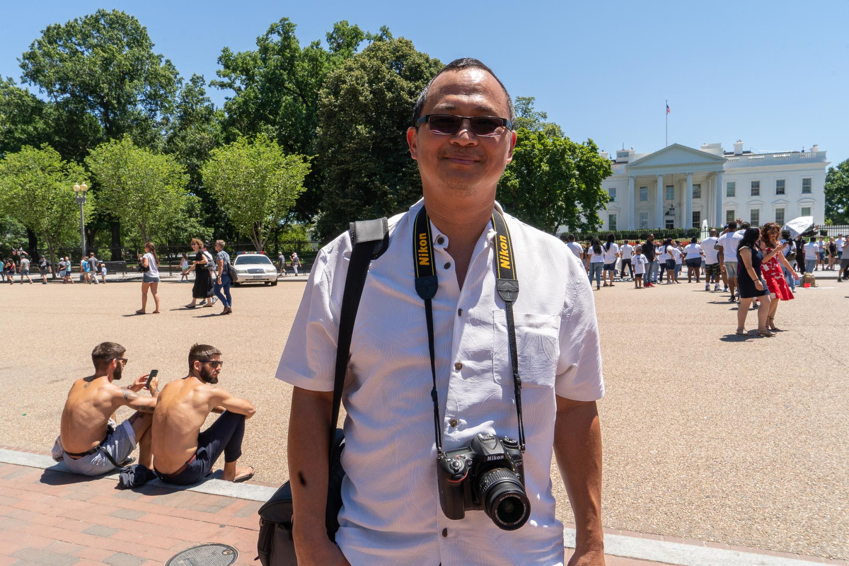 Peter Robinson is from Guyana. He brought his family to the White House, because he said it is an important place for her to visit as a United States citizen. (Tilly Martlatt/News21)