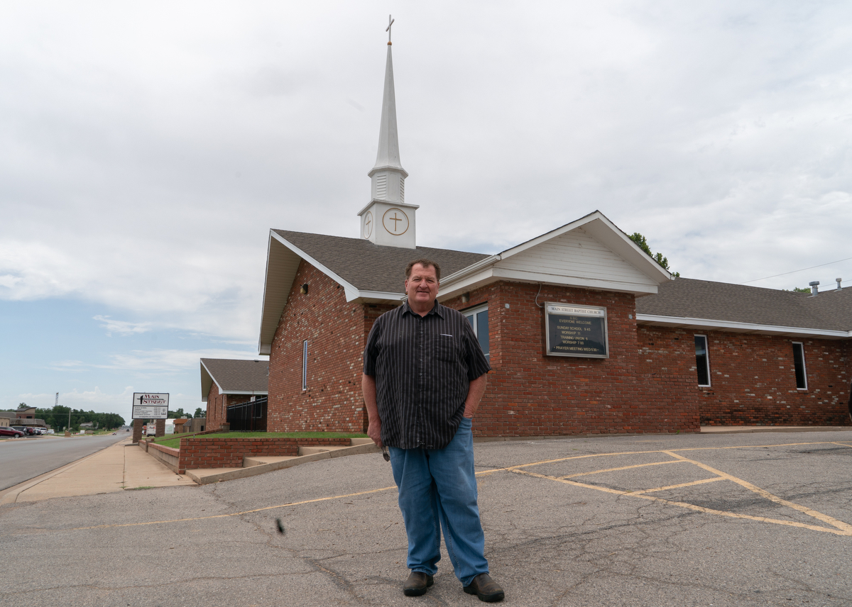 Larry Parvin is the pastor at Main Street Baptist Church in Elk City, Oklahoma. Before becoming a pastor, Parvin was a truck driver.  (Tilly Marlatt/News21)