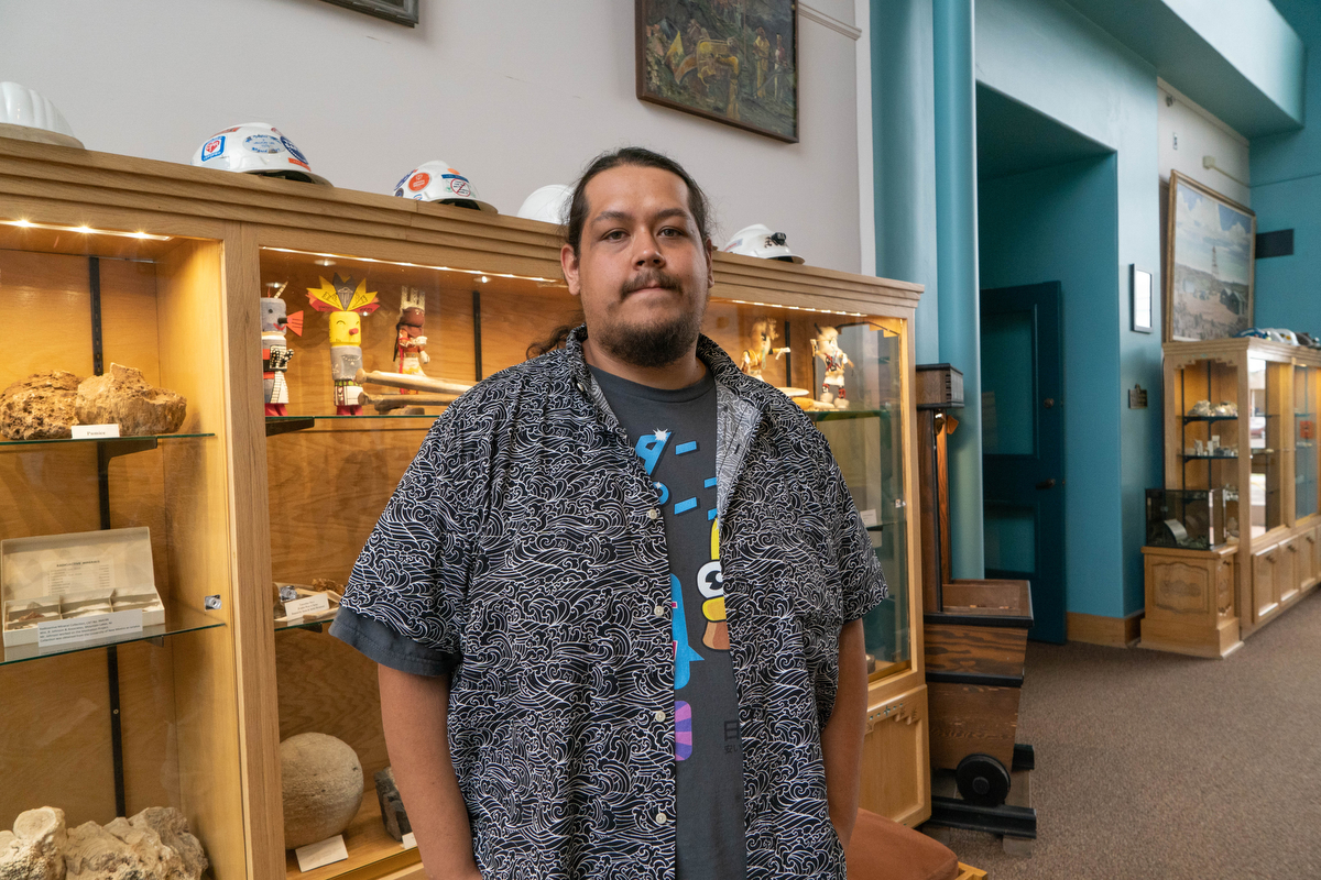 """Everybody all over is feeling something needs to change. Not just people on the Republican side, but Democrats want change, too,"" Stone Gonzales said. Gonzales works at the New Mexico Mining Museum located along Route 66 in Grants, New Mexico.  (Tilly Marlatt/News21)"