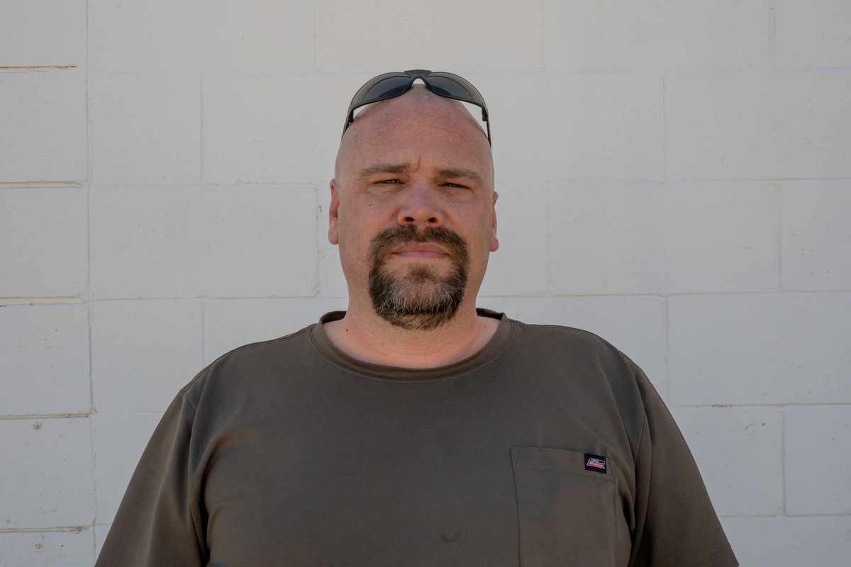 "Brian Baldwin, a local produce merchandiser in Lyon County, Nevada, said people are too ""politically sensitive"" today and recalls a time when America was ""pretty cool for a while there."" (Lenny Martinez Dominguez/News21)"