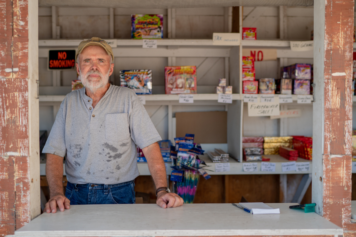 "Larry Bucci is a Tekamah, Nebraska, native who served in the U.S. Army from 1969 to 1973. ""If you just look around, it seems like we're OK,"" Larry said. ""Then if you watch the national news, it's going to hell in a handbag."" (Lenny Martinez Dominguez/News21)"