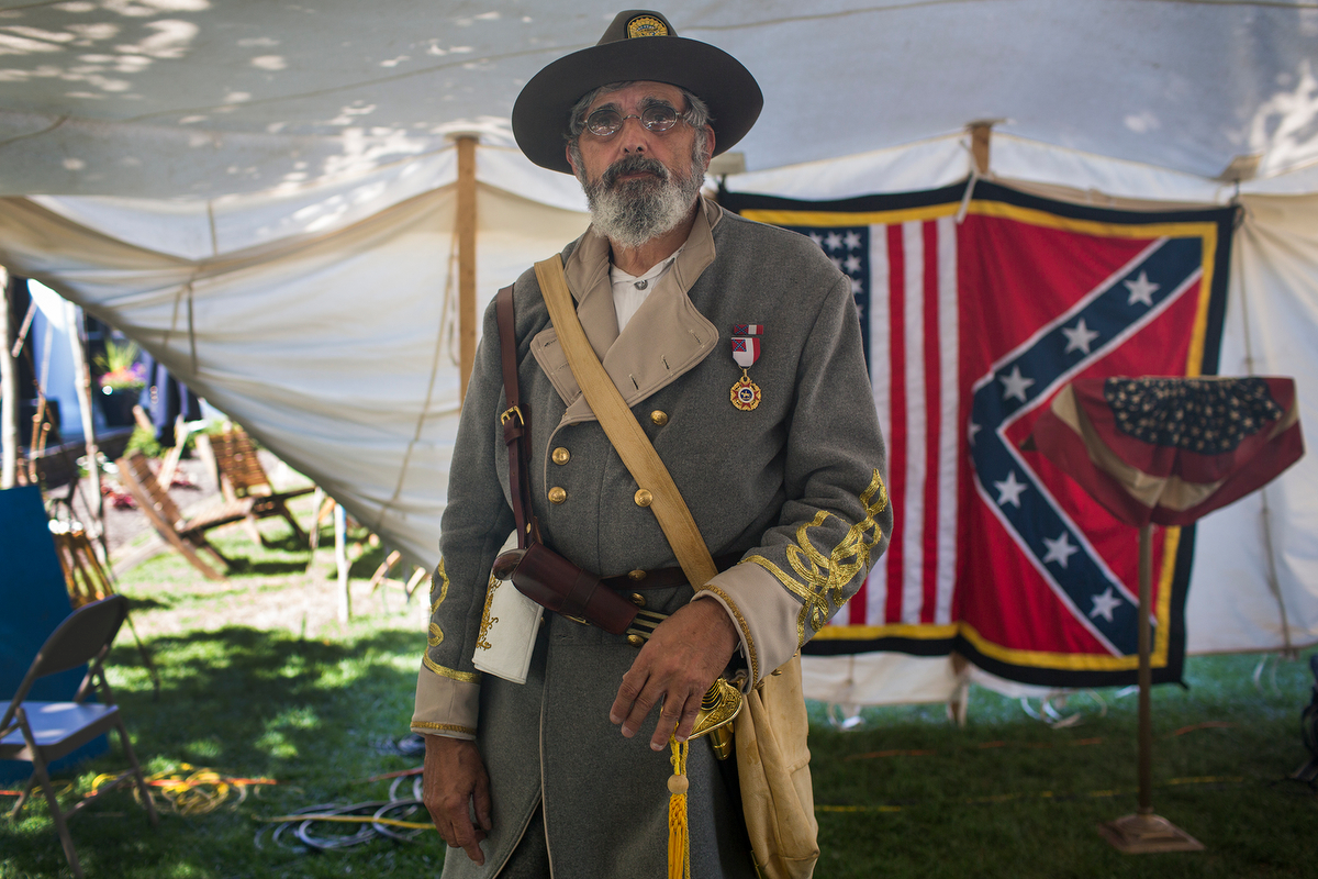 John Spaziani, portraying Gen. Samuel Cooper in Gettysburg. (Jim Tuttle/News21)