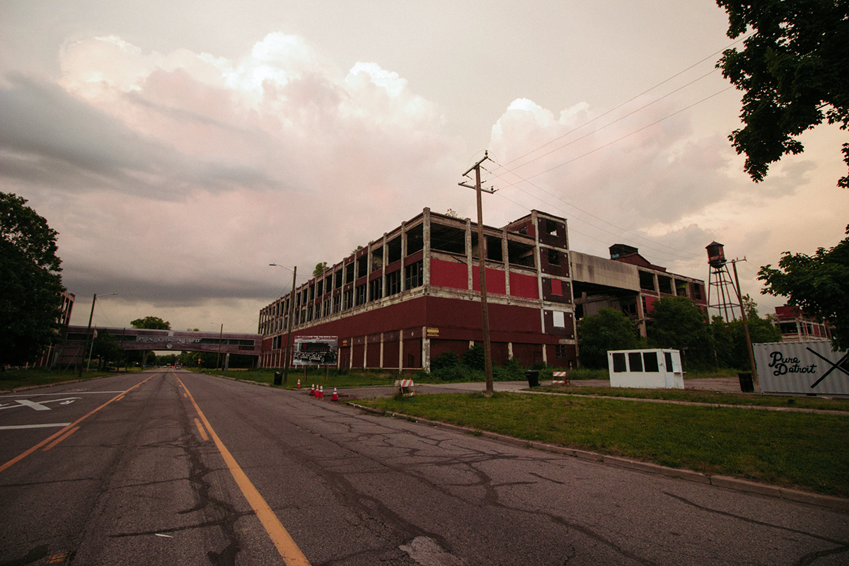 """The economy here has been hit harder than probably anywhere else in the country and we see it as, this is what America could become if something doesn't change,"" said Jeff Schoep, who moved the headquarters of his National Socialist Movement into Detroit's old Packard plant. (Megan Ross/News21)"