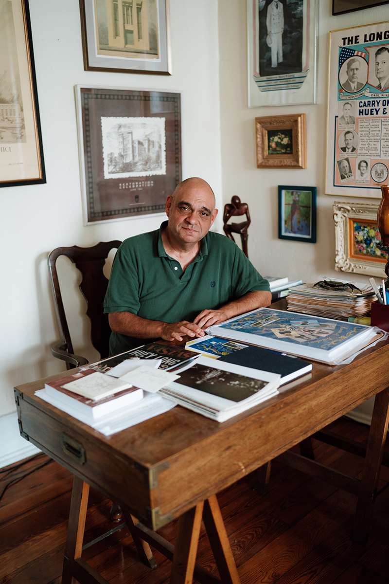 "Frank Perez, an LGBTQ historian and gay man who heads the New Orleans-based LGBTQ+ Archives Project of Louisiana, is worried about the future. ""I don't think young people realize how much they take for granted,"" Perez said. (Megan Ross / News21)"