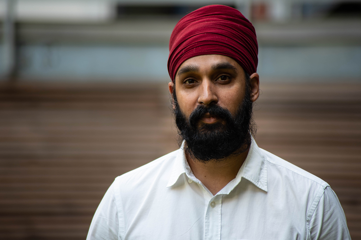 "Simran Jeet Singh, senior religion fellow with the Sikh Coalition in New York City, said violence against minority groups is becoming more normalized since the 2016 presidential campaign. ""What I've experienced are people willing to say things that they weren't saying before,"" he said. (Ashley Mackey/News21)"